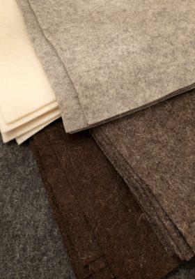 Natural Coloured Wool Felt